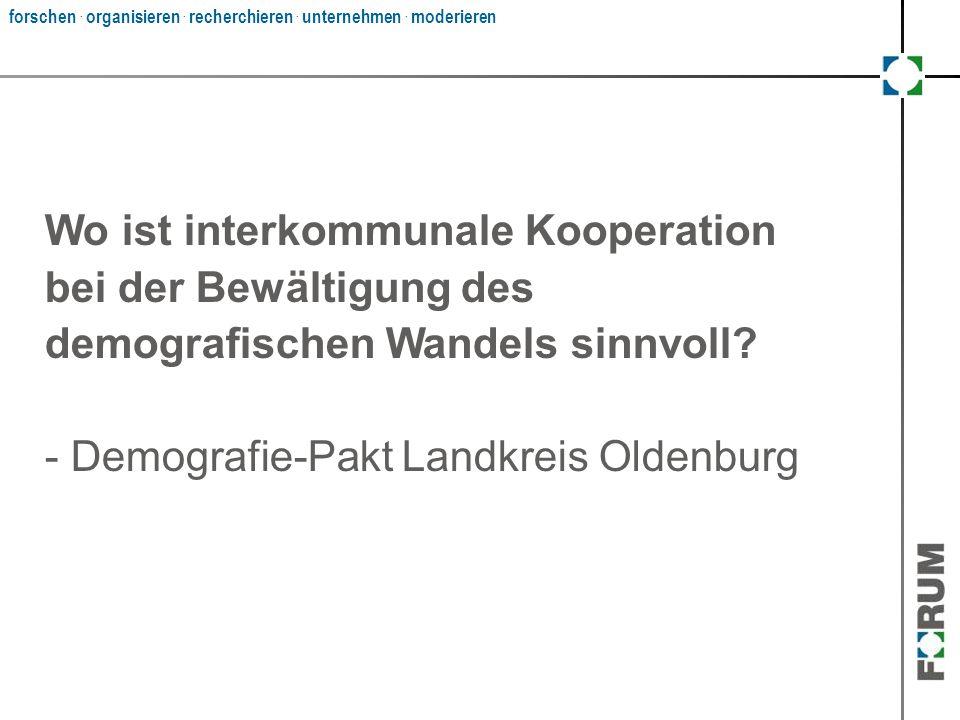 Wo ist interkommunale Kooperation