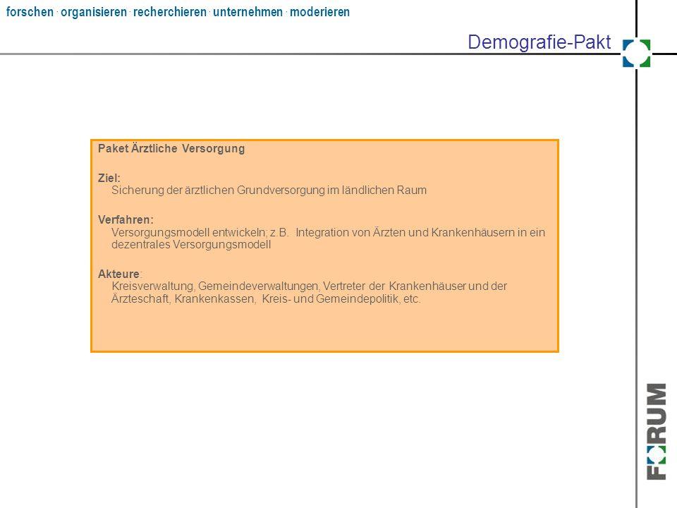 Demografie-Pakt Paket Ärztliche Versorgung