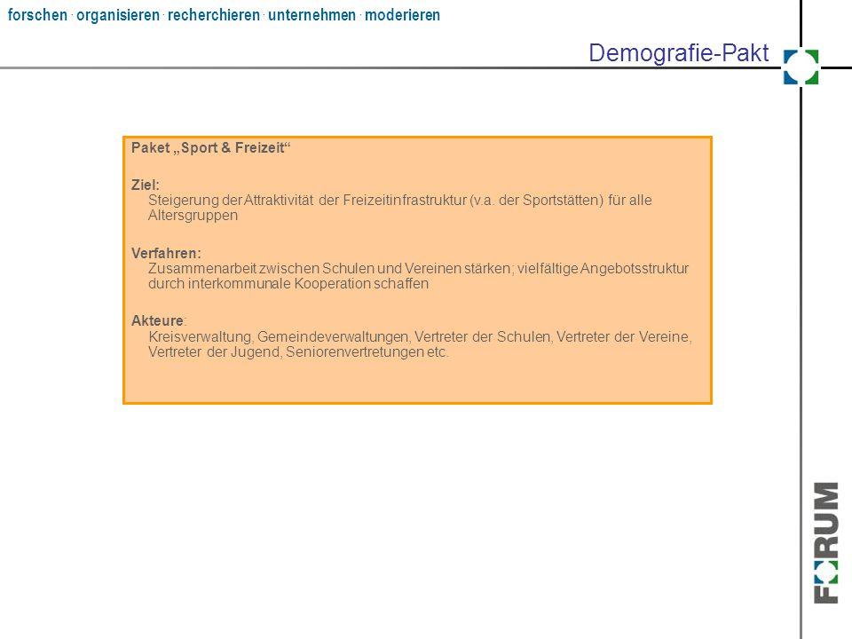 """Demografie-Pakt Paket """"Sport & Freizeit"""