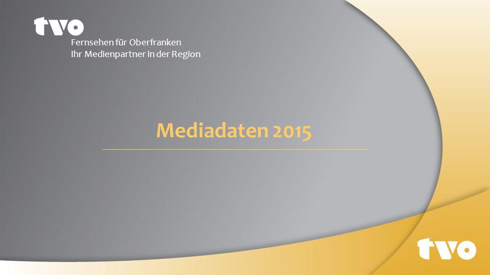 Mediadaten 2015 Fernsehen für Oberfranken