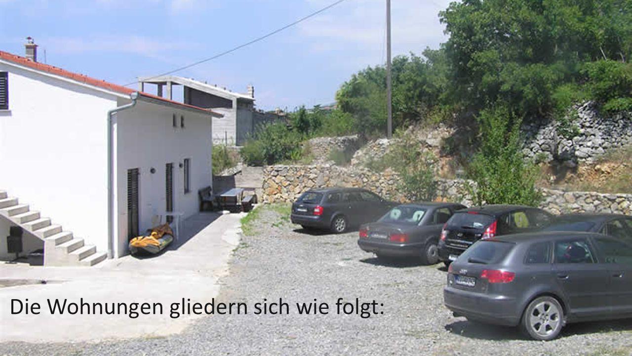 Die Wohnungen gliedern sich wie folgt: