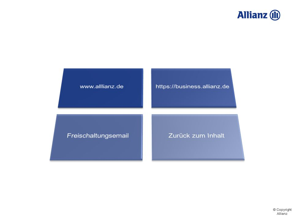 www.alllianz.de https://business.allianz.de Freischaltungsemail Zurück zum Inhalt