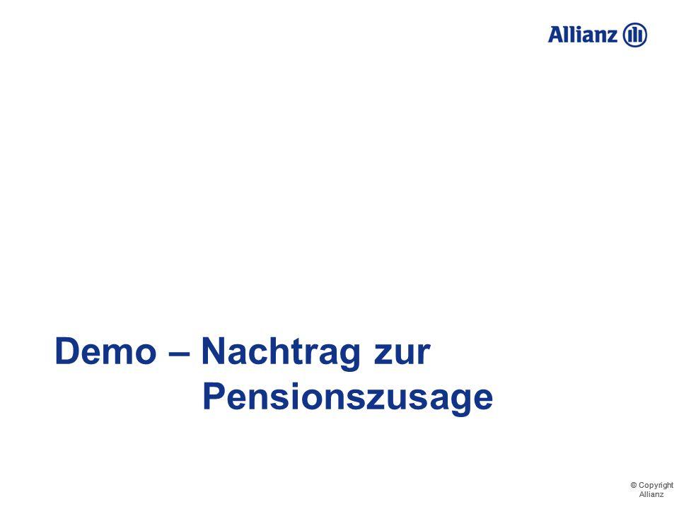Demo – Nachtrag zur Pensionszusage