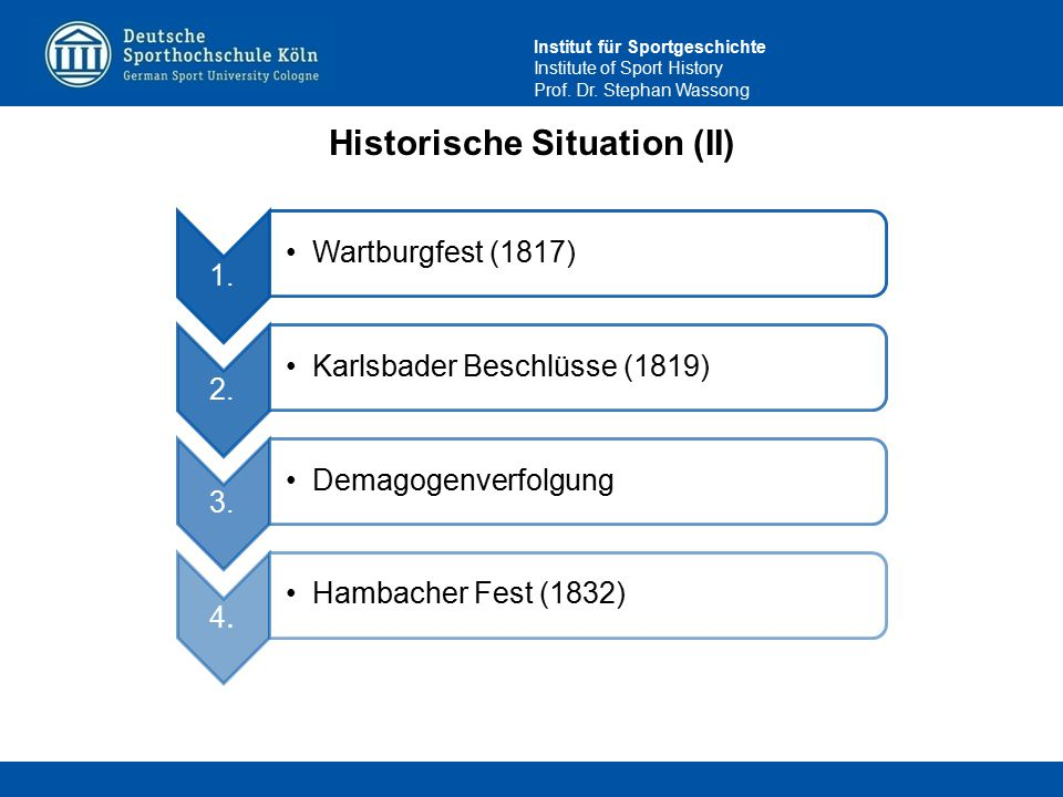 Historische Situation (II)