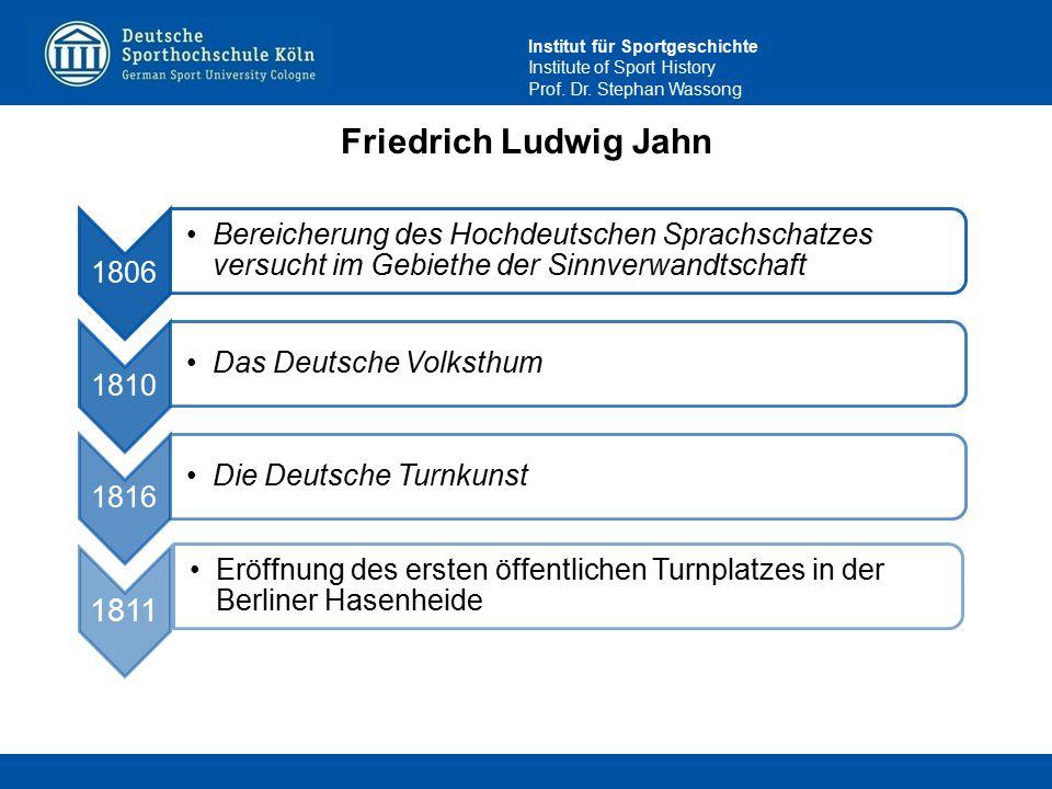 Friedrich Ludwig Jahn 1806. Bereicherung des Hochdeutschen Sprachschatzes versucht im Gebiethe der Sinnverwandtschaft.