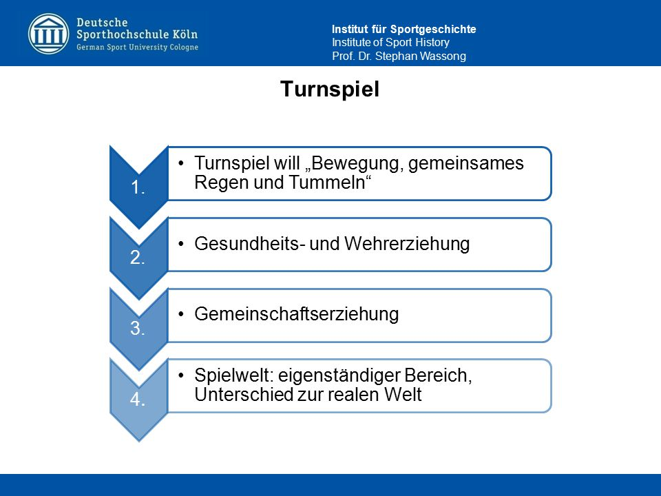 """Turnspiel 1. Turnspiel will """"Bewegung, gemeinsames Regen und Tummeln"""