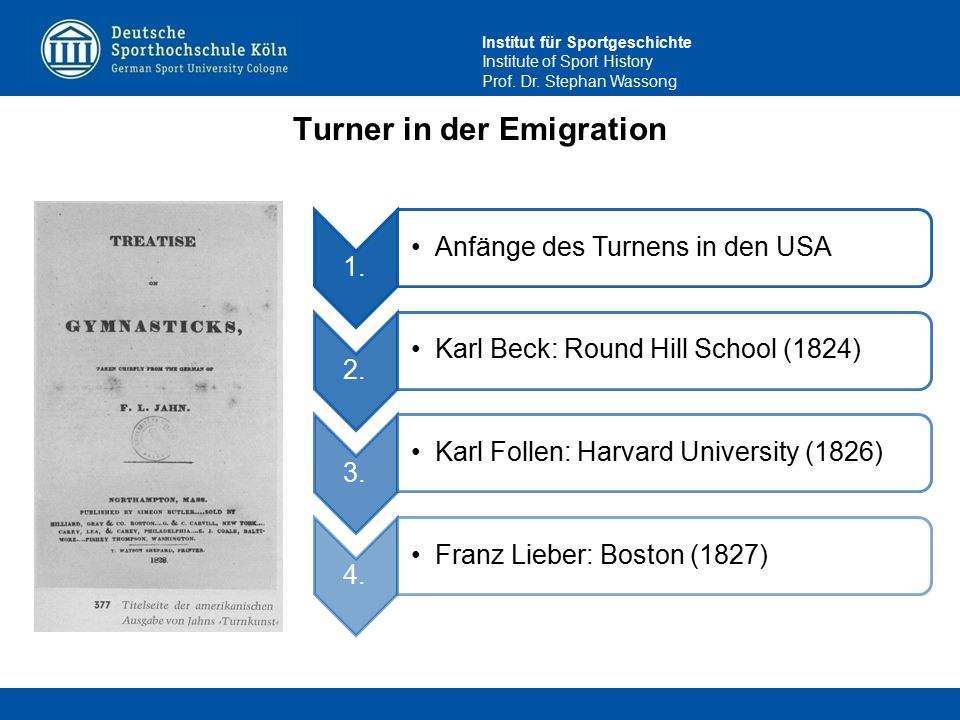 Turner in der Emigration