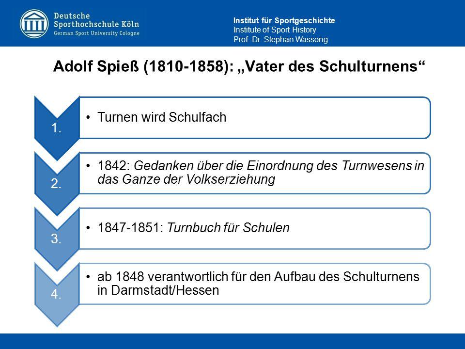 """Adolf Spieß (1810-1858): """"Vater des Schulturnens"""