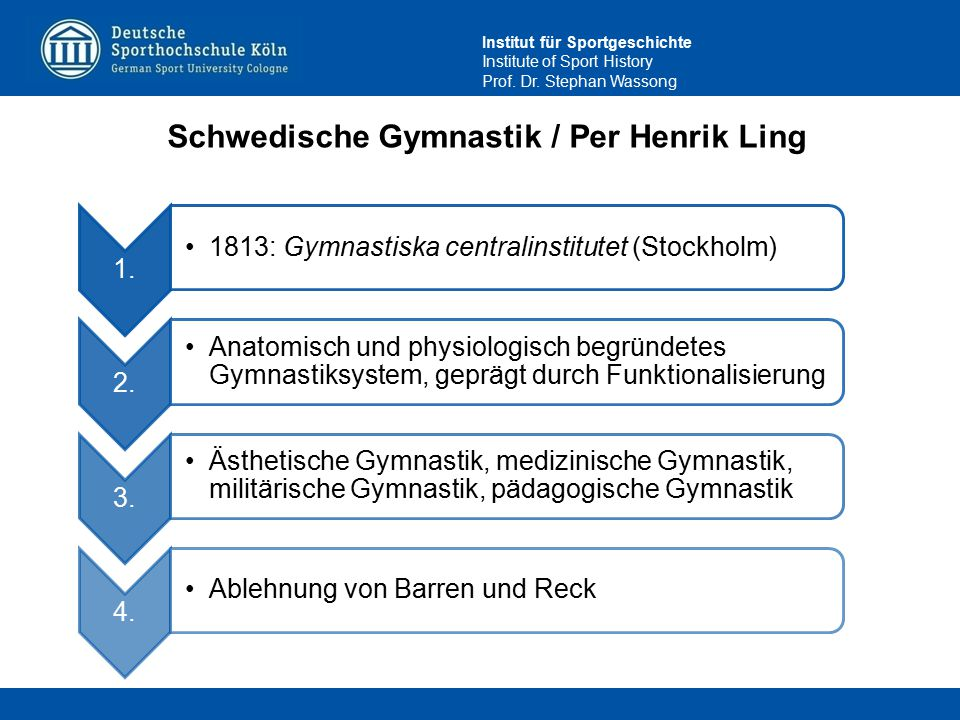 Schwedische Gymnastik / Per Henrik Ling