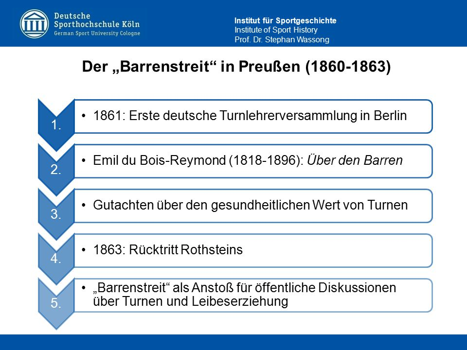 "Der ""Barrenstreit in Preußen (1860-1863)"
