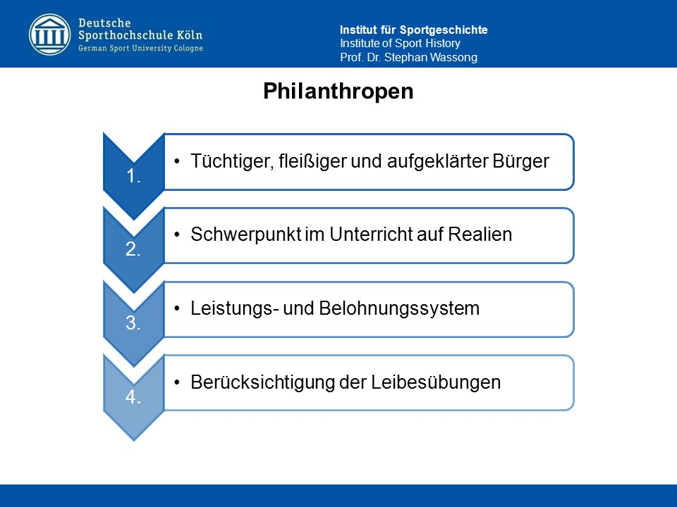 Philanthropen 1. Tüchtiger, fleißiger und aufgeklärter Bürger 2.