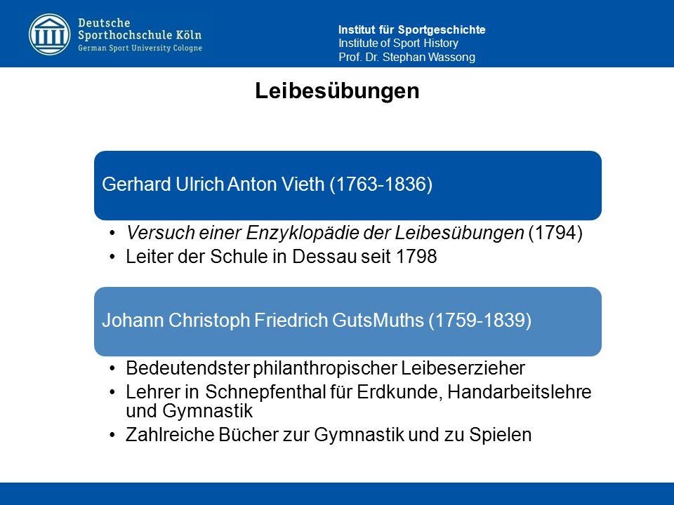 Leibesübungen Gerhard Ulrich Anton Vieth (1763-1836)