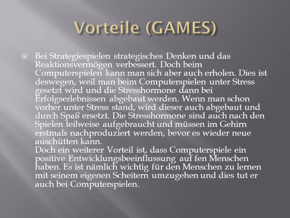 Vorteile (GAMES)