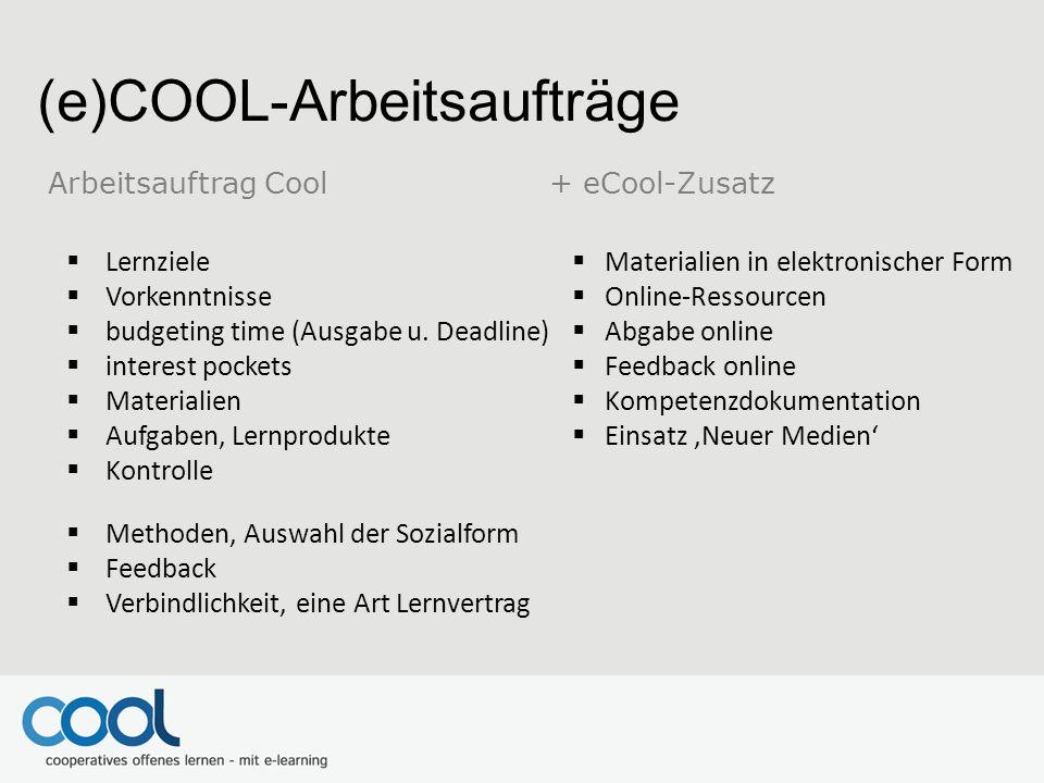 (e)COOL-Arbeitsaufträge