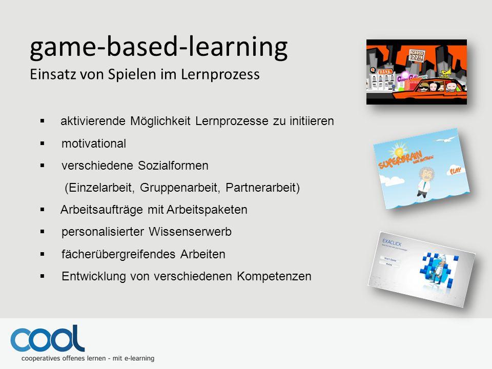 game-based-learning Einsatz von Spielen im Lernprozess