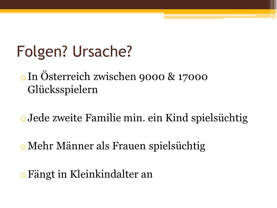 Folgen Ursache In Österreich zwischen 9000 & 17000 Glücksspielern