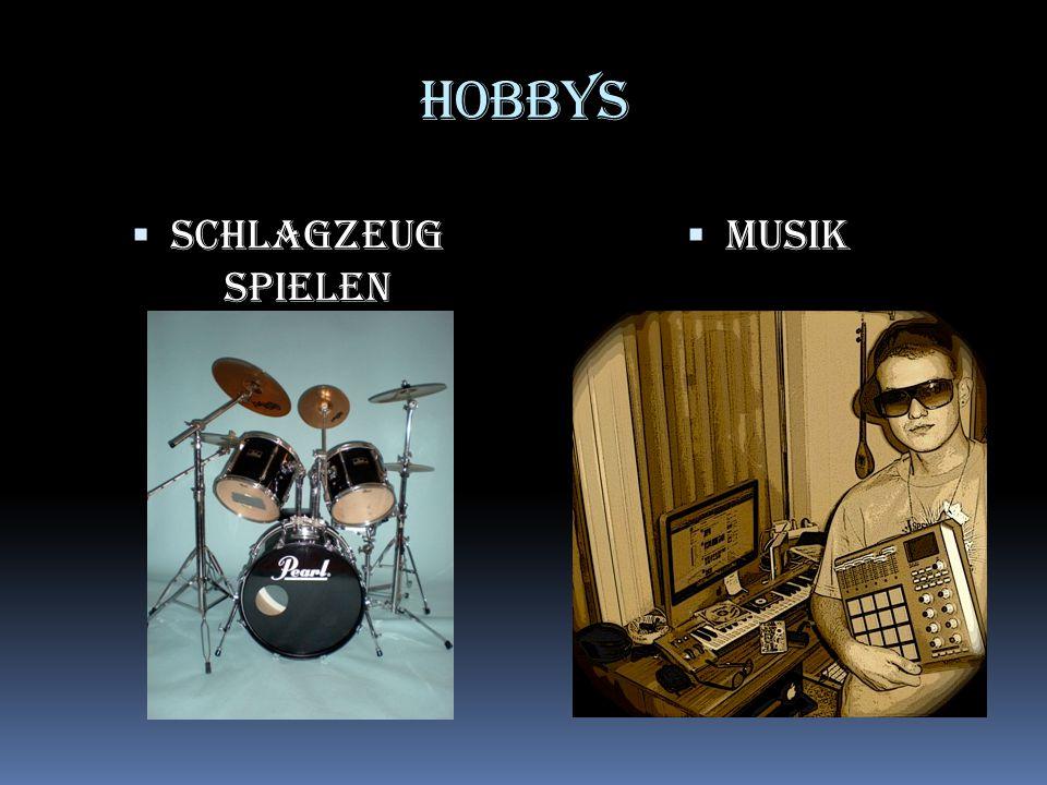 Hobbys Schlagzeug spielen Musik