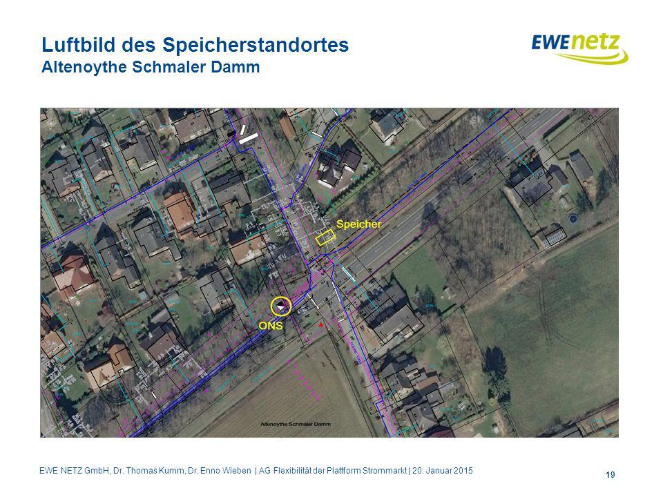 Luftbild des Speicherstandortes Altenoythe Schmaler Damm
