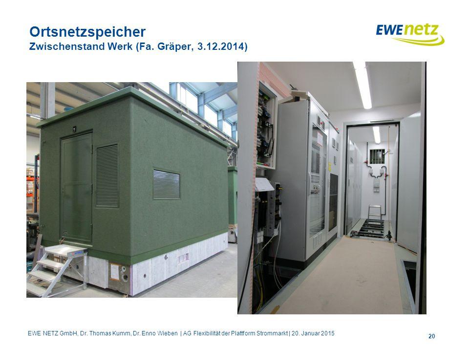 Ortsnetzspeicher Zwischenstand Werk (Fa. Gräper, 3.12.2014)