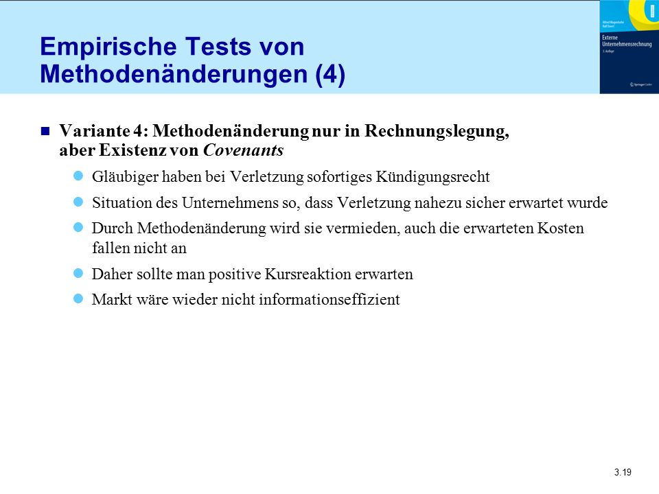 Empirische Tests von Methodenänderungen (4)