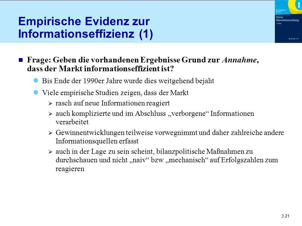 Empirische Evidenz zur Informationseffizienz (1)