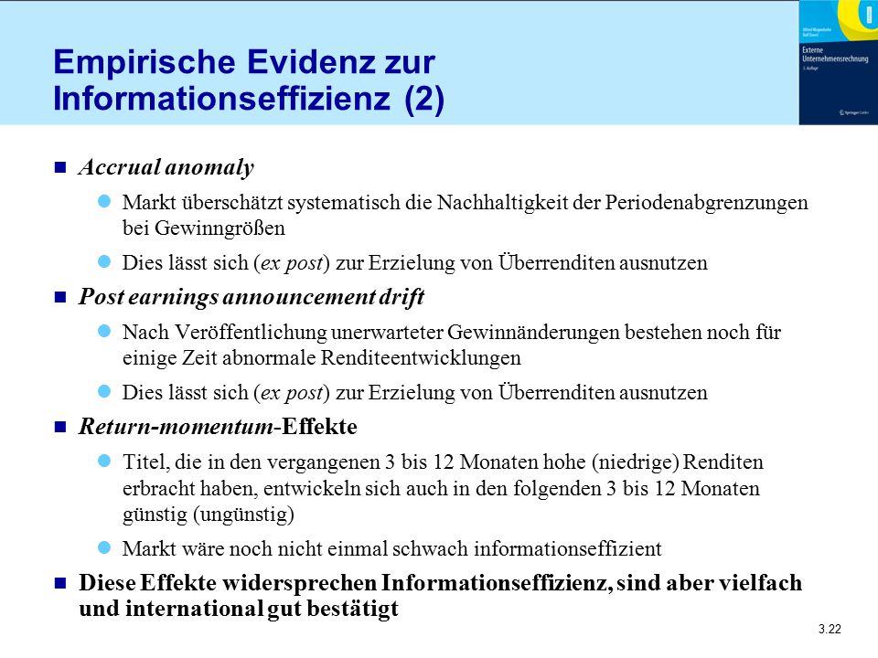 Empirische Evidenz zur Informationseffizienz (2)