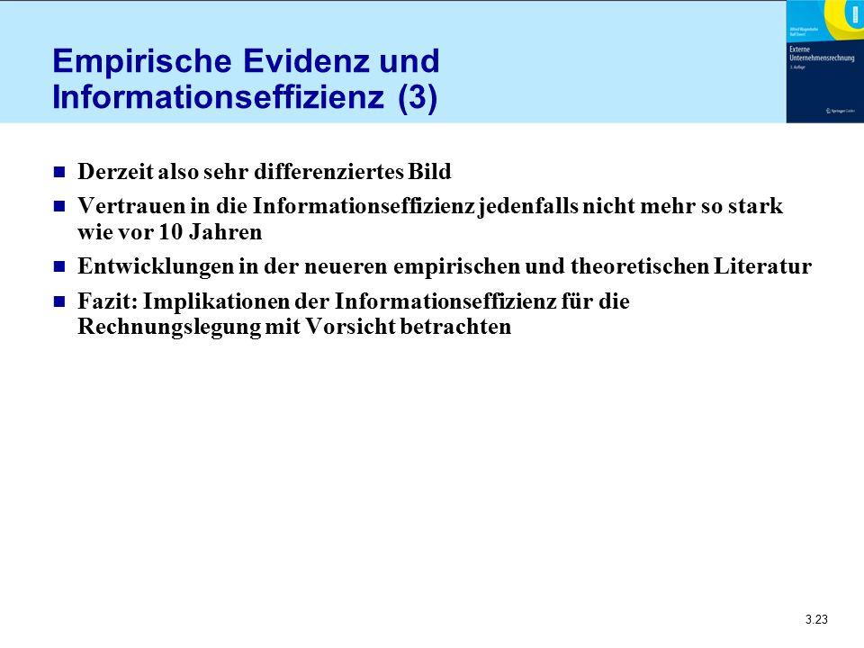 Empirische Evidenz und Informationseffizienz (3)