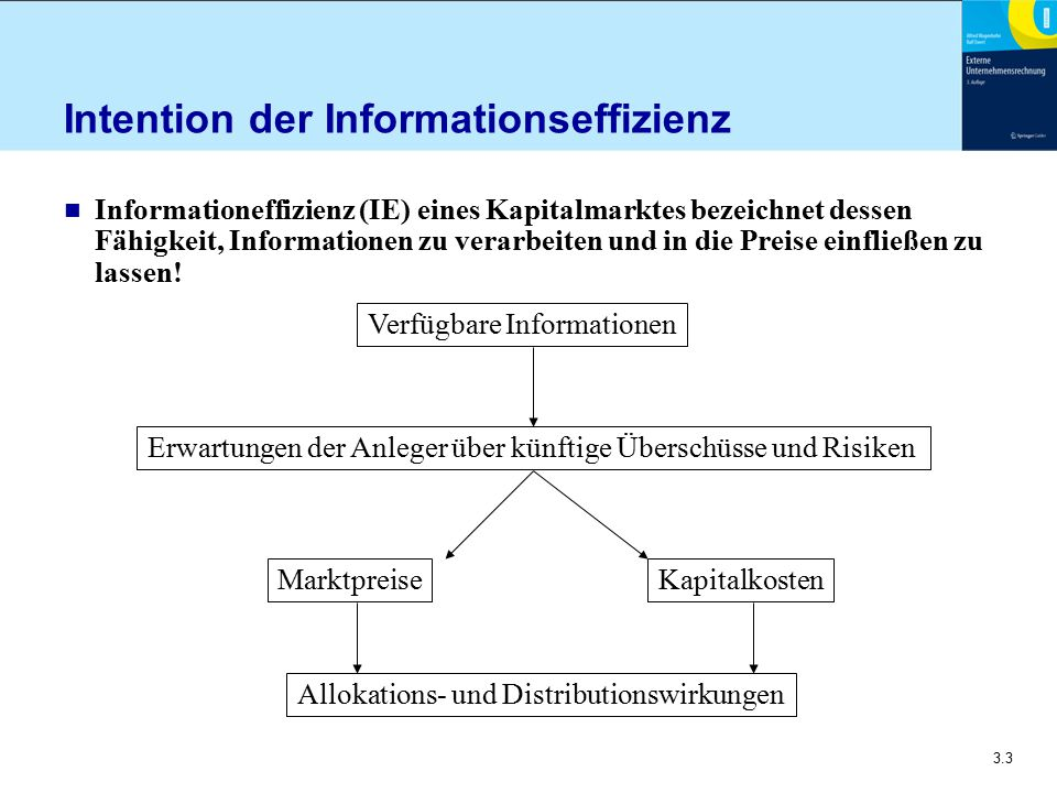Intention der Informationseffizienz