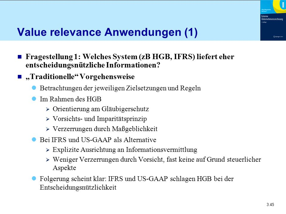 Value relevance Anwendungen (1)