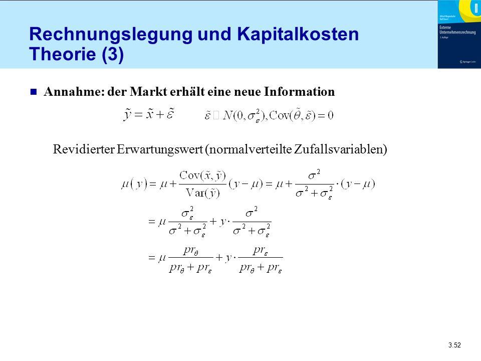 Rechnungslegung und Kapitalkosten Theorie (3)