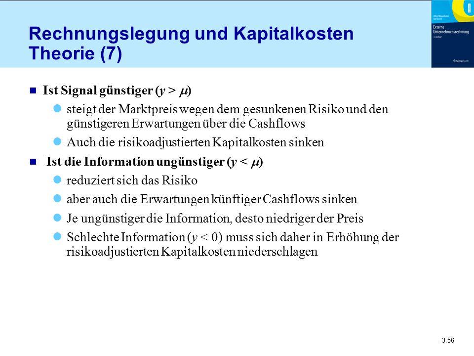 Rechnungslegung und Kapitalkosten Theorie (7)