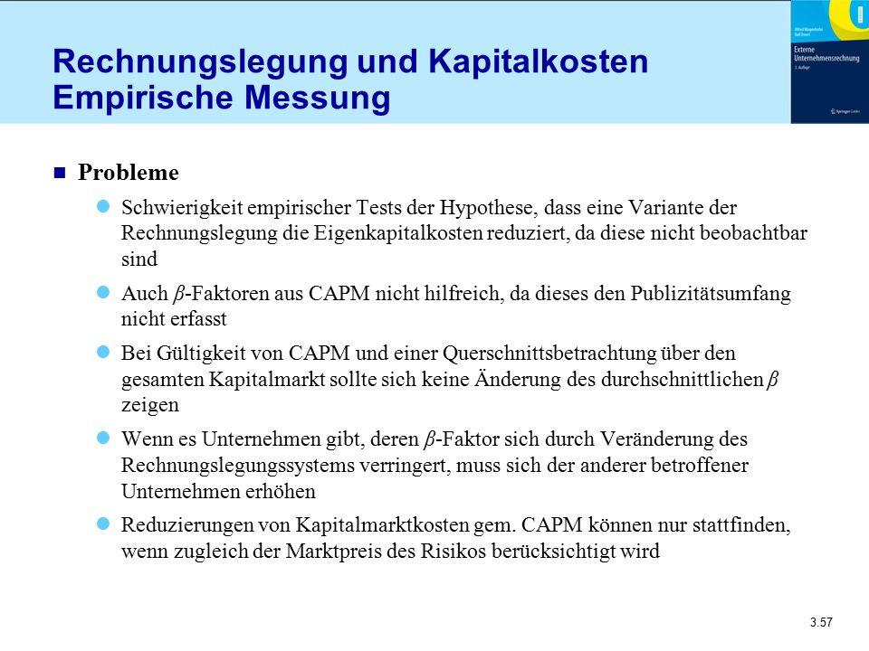 Rechnungslegung und Kapitalkosten Empirische Messung