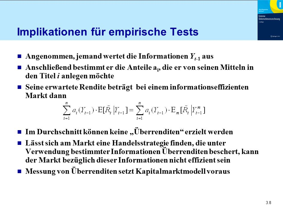 Implikationen für empirische Tests
