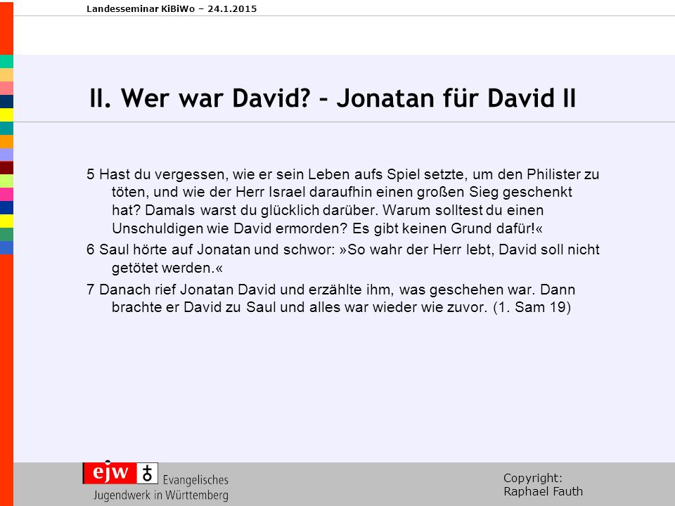 II. Wer war David – Jonatan für David II