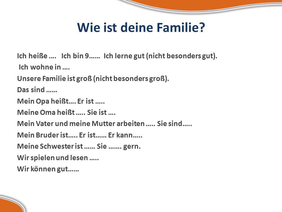 Wie ist deine Familie