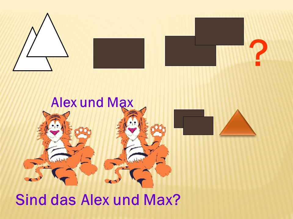 Alex und Max Sind das Alex und Max