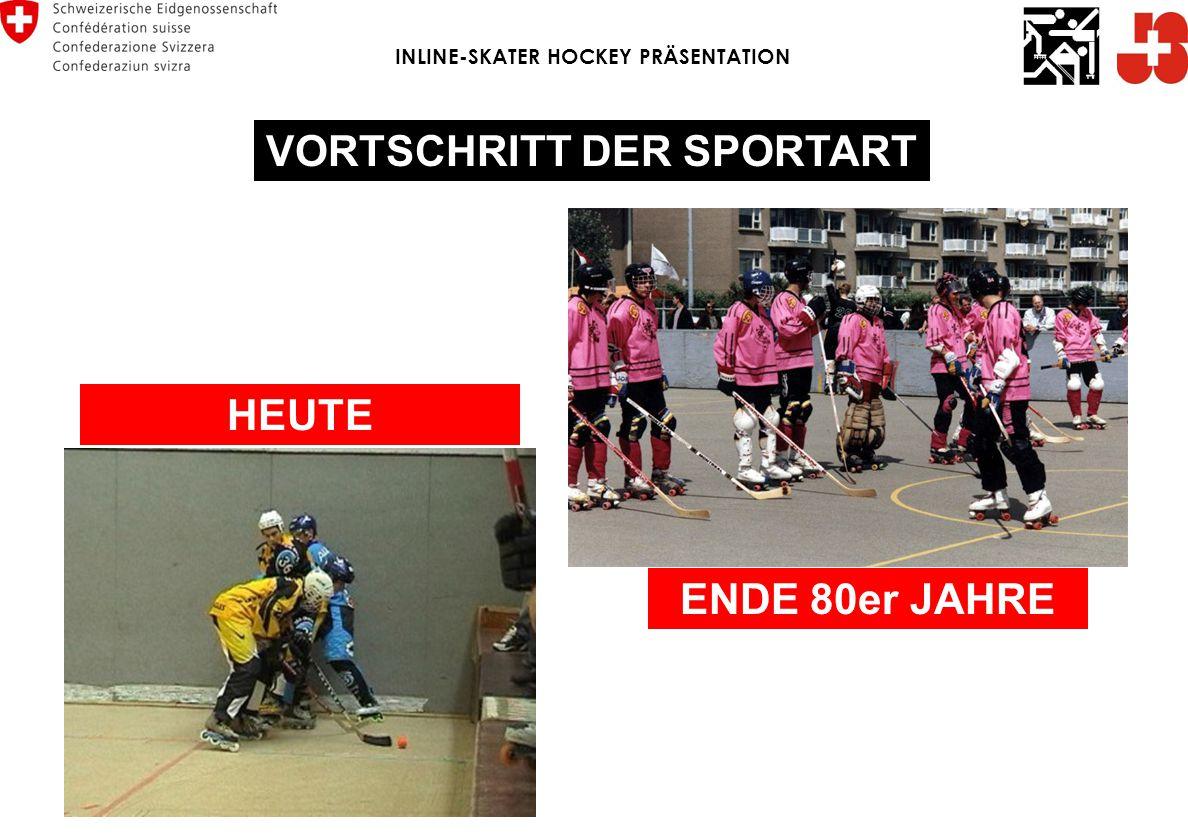 INLINE-SKATER HOCKEY PRÄSENTATION VORTSCHRITT DER SPORTART