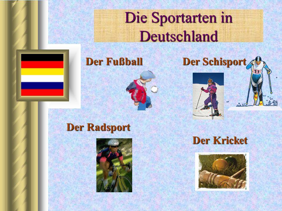 Die Sportarten in Deutschland