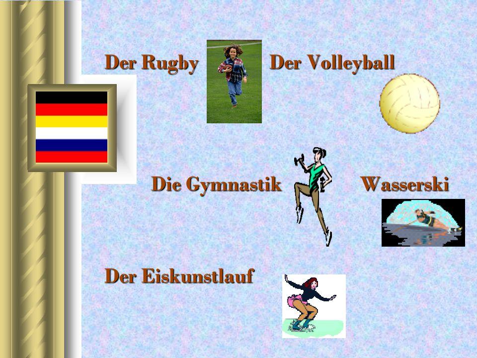 Der Rugby Der Volleyball Die Gymnastik Wasserski Der Eiskunstlauf