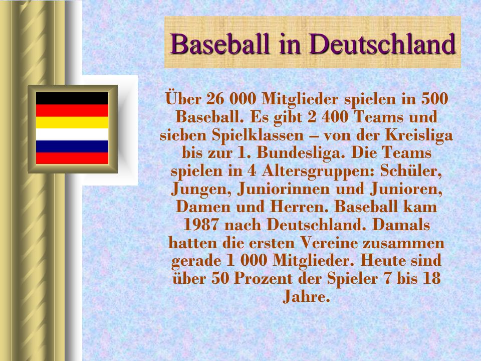 Baseball in Deutschland