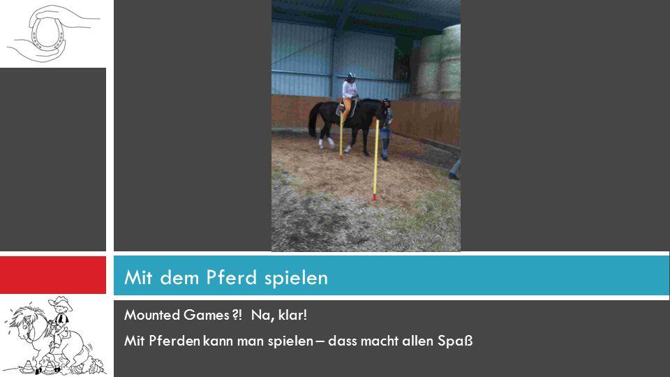 Mit dem Pferd spielen Mounted Games ! Na, klar!