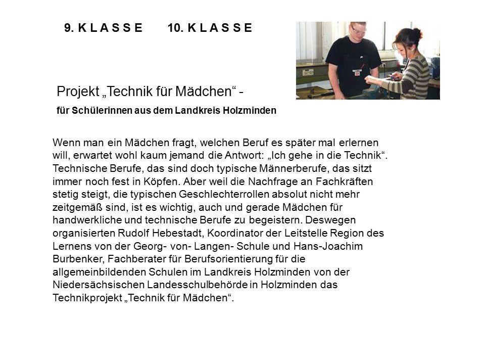 """Projekt """"Technik für Mädchen -"""