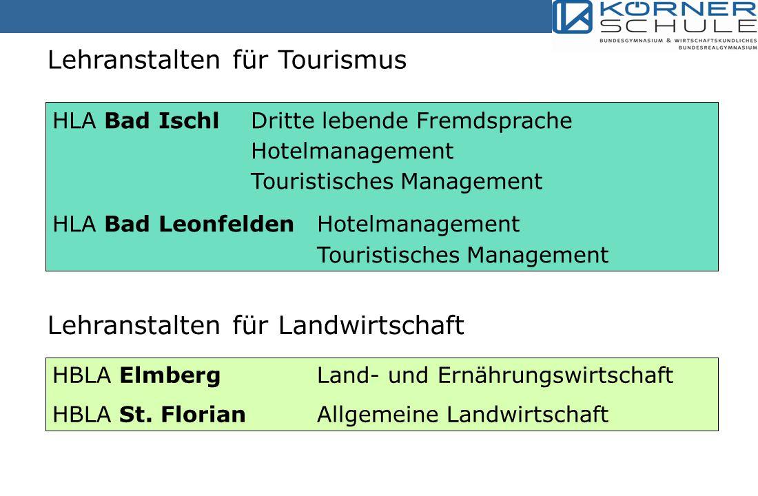 Lehranstalten für Tourismus