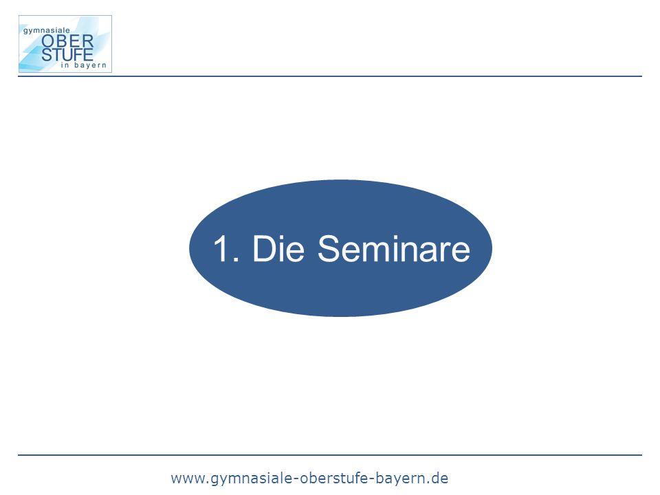 1. Die Seminare