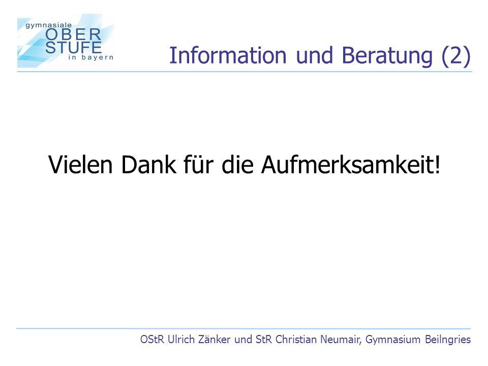 Information und Beratung (2)