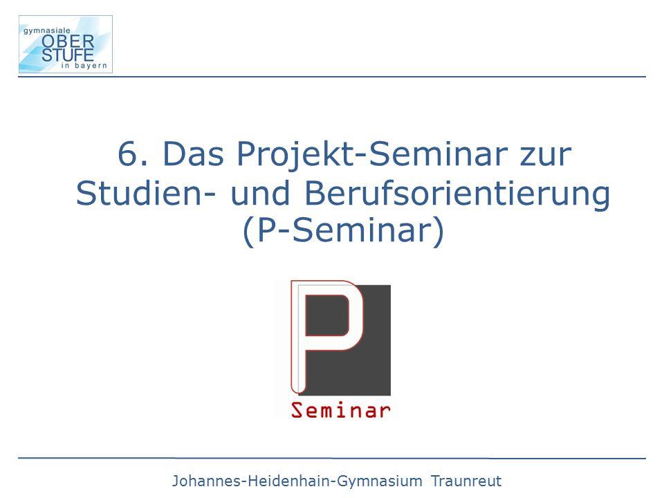 6. Das Projekt-Seminar zur Studien- und Berufsorientierung (P-Seminar)