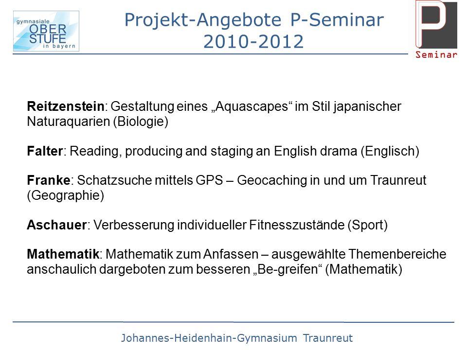 Projekt-Angebote P-Seminar 2010-2012