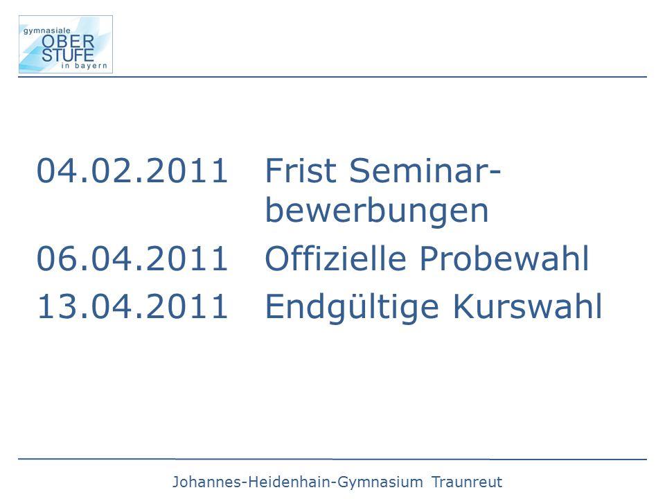 04.02.2011 Frist Seminar- bewerbungen