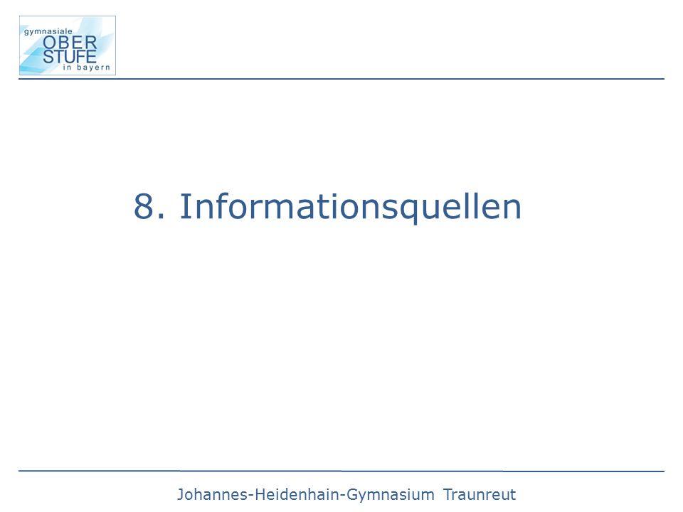 8. Informationsquellen