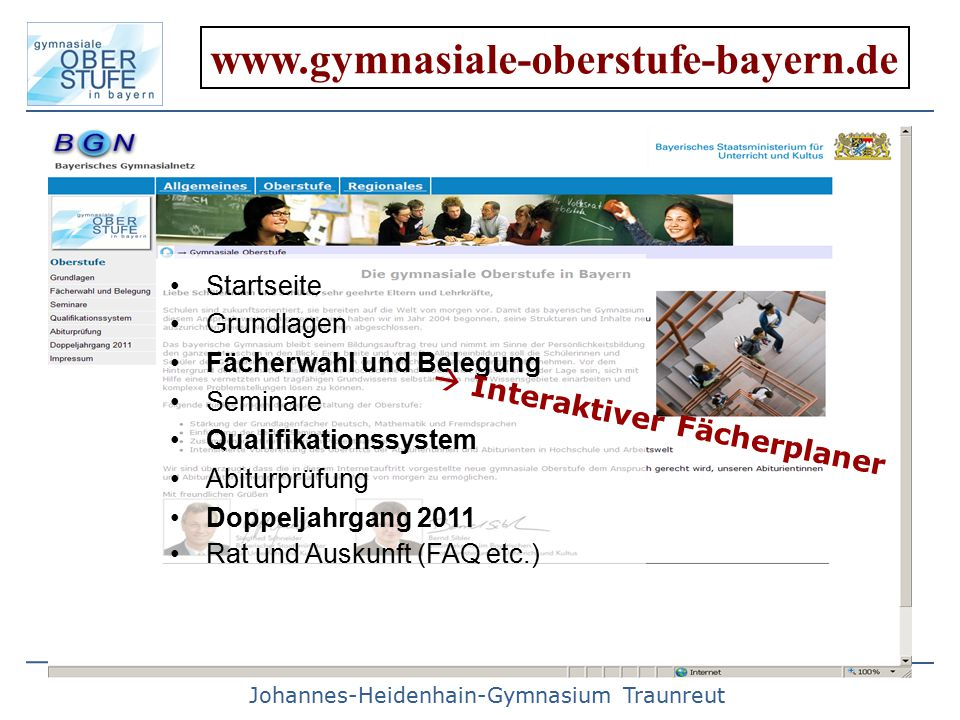 www.gymnasiale-oberstufe-bayern.de  Interaktiver Fächerplaner